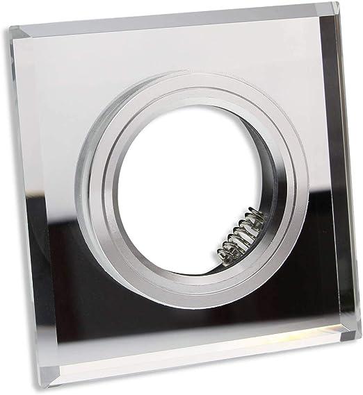 Kristall Einbaustrahler GU10 MR16 Rahmen Rund Crystal Einbauspot Kristal Chrom