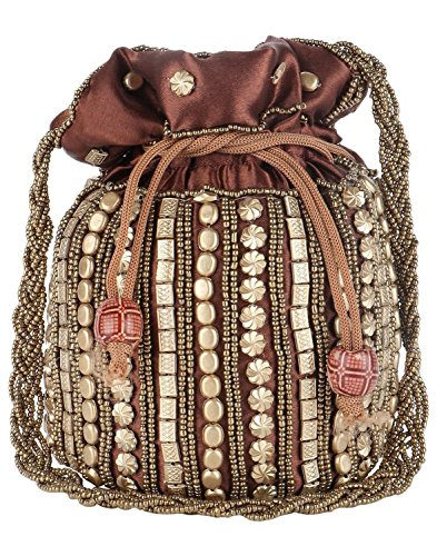 Satin Potli for Women Traditional Style Girls Coffee Jaipuriya Bag amp; w6qtRd