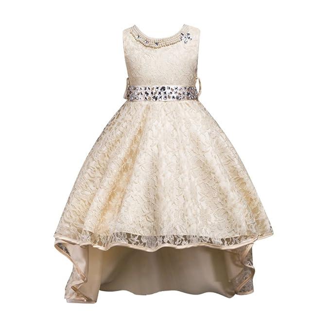 Sweetds Vestido de Fiesta de Las Niñas, Vestidos de Novia Que se arrastran Vestido de