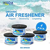 organic air freshener - Ikeda Odor Eliminator Scents Organic Block Natural Air Freshener Eliminates Odor in Cars Bathrooms Boats RVs Room Kitchen and Pet Areas (SEA Breeze, 4)