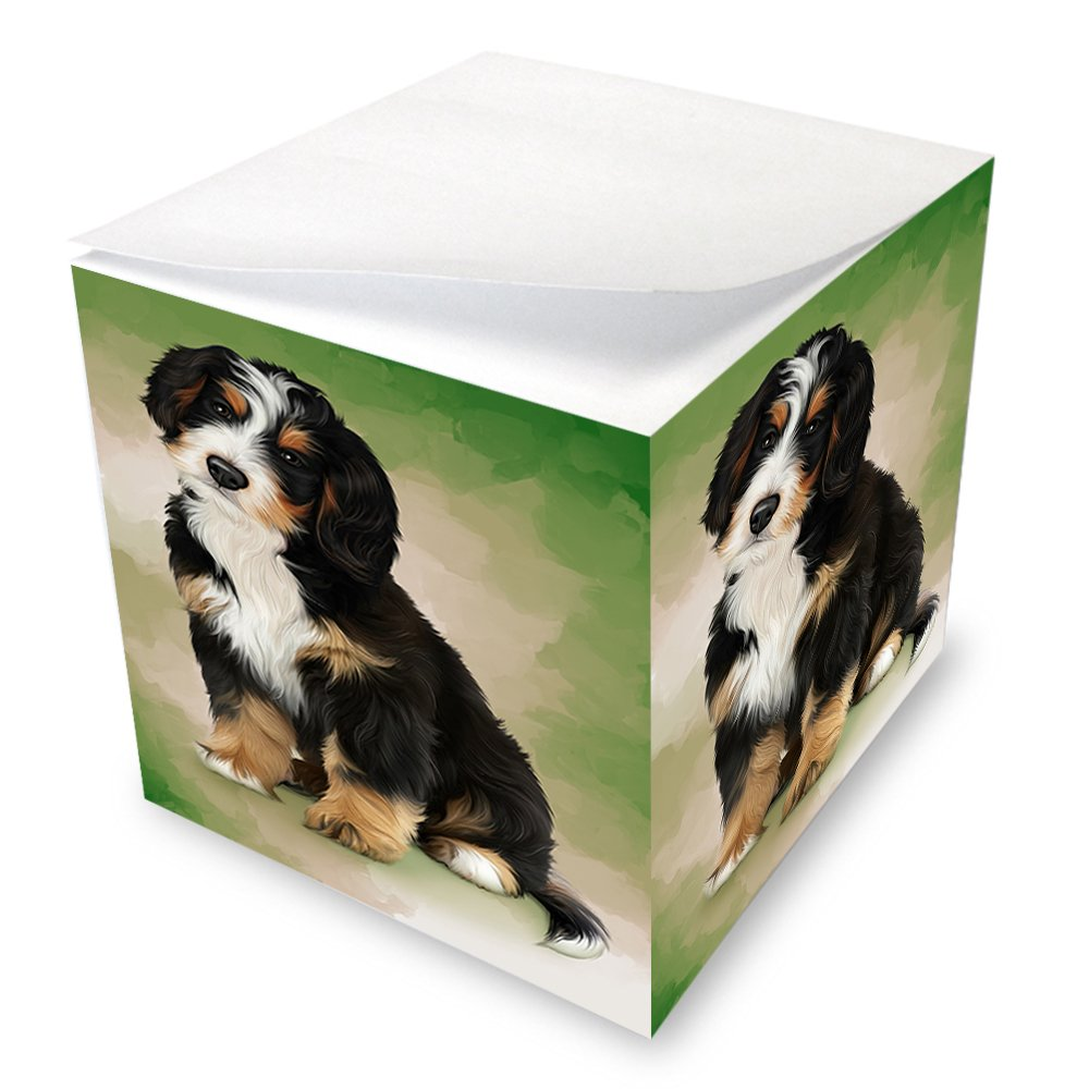 Bernedoodle Dog Note Cube by Doggie of the Day