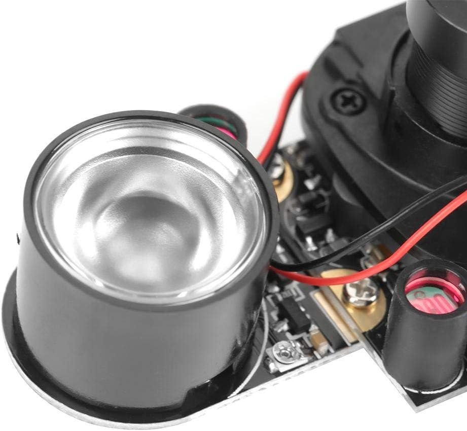 Diyeeni Camera Module for Raspberry Pi,5 Million Pixels Night Vision Camera Module Board,Automatically Switch Video Webcam with 2 pcs 850IR Fill Lights for Raspberry pi B 3//2