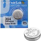 2x batterie Renata batteria orologio da polso–Swiss Made–celle 0% mercurio free Button in ossido di argento 1.55V batterie Renata Long Life