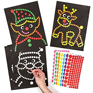Christmas dotty art for children to make and for Amazon arts and crafts for kids
