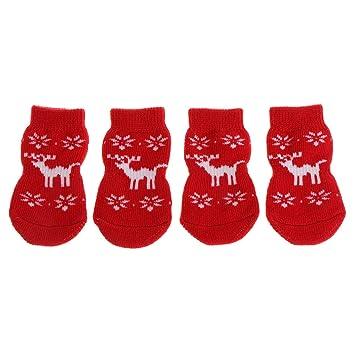 Lifet - Calcetines para Mascotas (protección cálida, para Cachorros y Gatos, Antideslizantes,