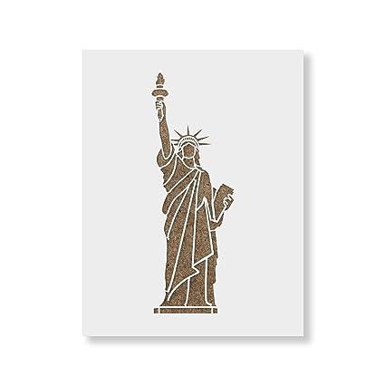 amazon com statue of liberty stencil template reusable stencil