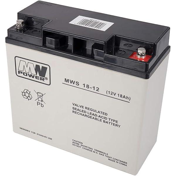 Powery Batería de Gel 12V 18Ah: Amazon.es: Electrónica
