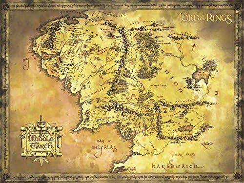Amazon De Close Up Poster Herr Der Ringe Karte Von Mittelerde