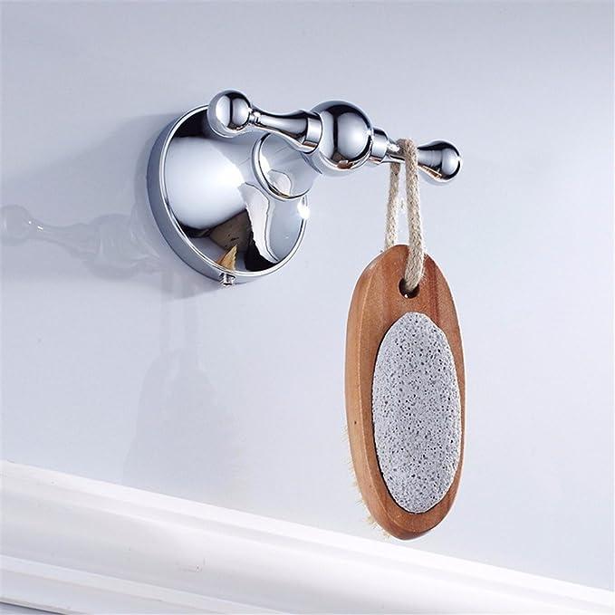 Moderno y minimalista de latón color completo kit de accesorios de baño de cromo  haga clic doble pole jabón wc portacepillos 2403140c6d12