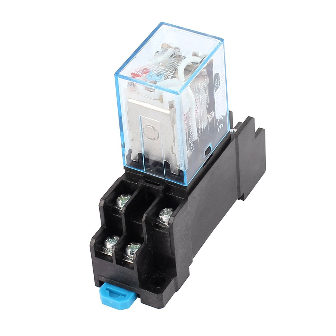 uxcell AC 110/120V Coil 8 Pin DPDT Electromagnetic Power Relay w Socket Base a16032300ux1217