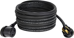 25FT 30Amp NEMA 10-30P 3 Prong Dryer Extension Cord with Heavy Duty Thick Anti-Weather Cord