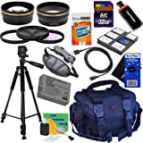 20pc Bundle 32GB Deluxe Accessory Kit w/ HD Wide Angle & HD Telephoto Lenses + 3pc Filter Kit + LP-E10 Battery Pack + HeroFiber Ultra Gentle Cleaning Cloth and more... for Canon EOS Rebel T2i, T3i, T4i & T5i (550D, 600D, 650D & 700D) Digital SLR Cameras