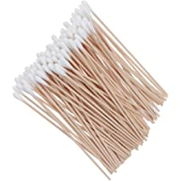 ROSENICE Cotton Swabs 100Pcs Long Wood Handle Medical Swabs Ear Cleaning Wound Care Cotton Buds Sanitary Round Cotton…