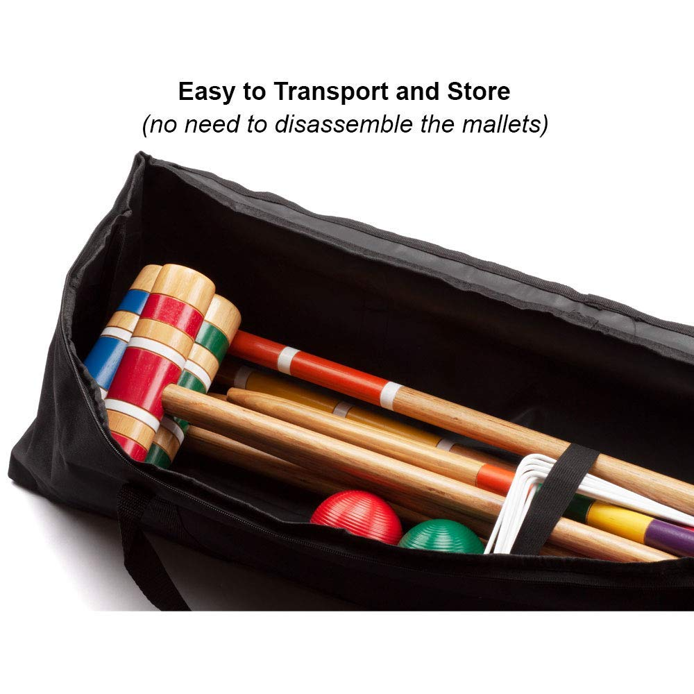 GSE Games & Sports Expert Premium 6-Player Croquet Set for Adults & Kids (Several Styles Available) (Deluxe) by GSE Games & Sports Expert (Image #4)