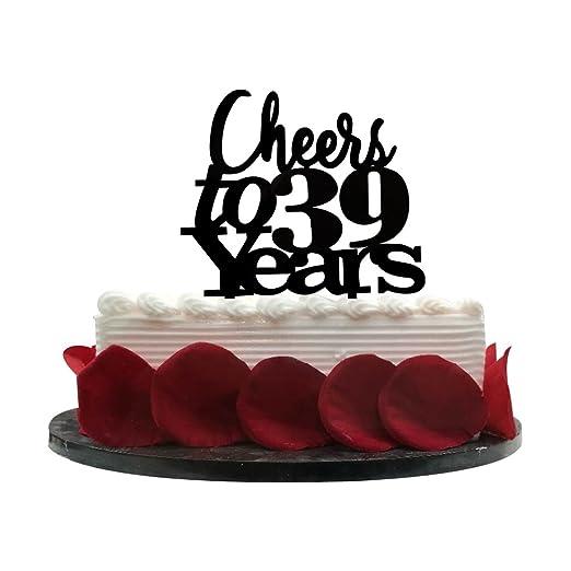 Adorno para tartas de 39 años, para cumpleaños, aniversario ...