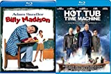 Hot Tub Time Machine Blu Ray + Billy Madison Comedy Double Feature Adam Sandler Bundle Movie Set