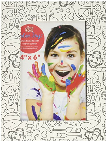 Color Joy 54915 Frame Coloring Products Frame, Assorted Designs, 4x6, (Goldstar Pens)