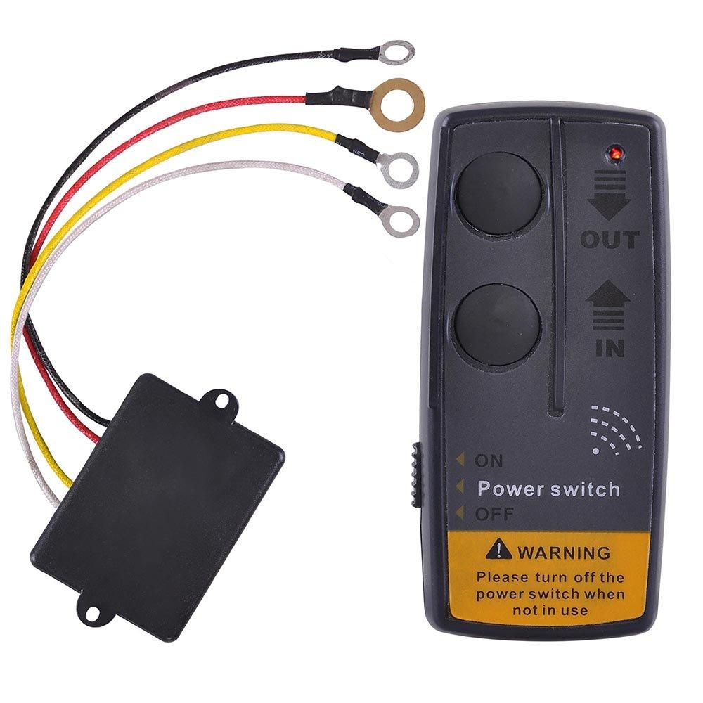 CZJ Tech Electric Wireless Remote Control System for 12 Volt Winch by CZJ Tech