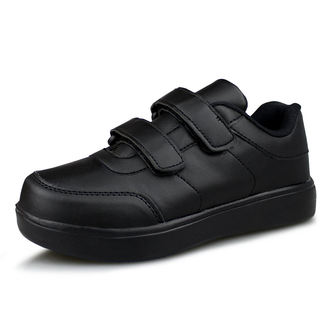 Hawkwell Kids School Uniform Sport Shoes(Toddler/Little Kid),Black PU,11 M US