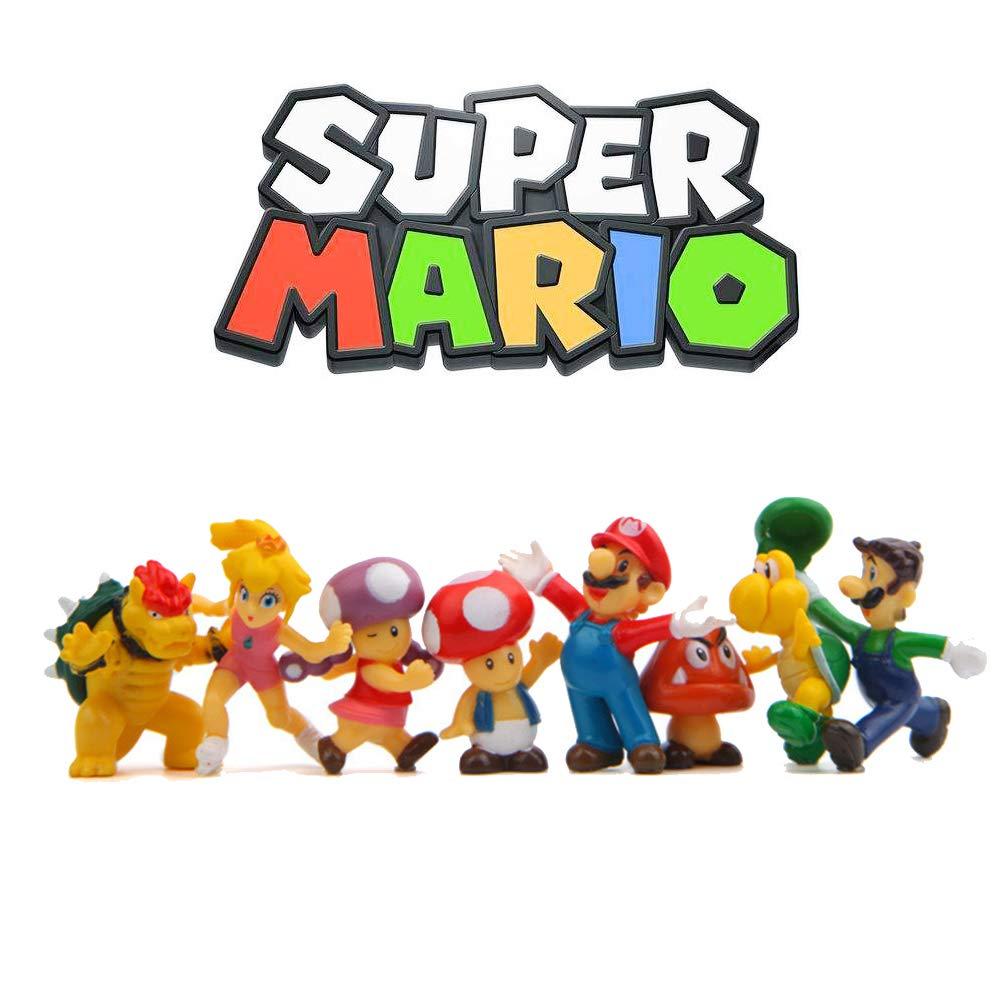 Super Mario decoración para tartas, figuras de acción de ...