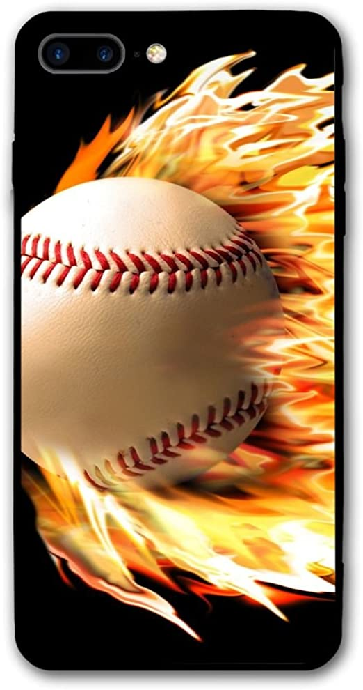 Amazon Com Pabcdef Fire Baseball Wallpaper Iphone 7 Plus 8 Plus Iphone 7 8 Plus Shockproof Case Skin Fits 5 5 Home Kitchen
