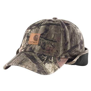 983226b8672c4 Amazon.com  Carhartt Men s Camo Ear Flap Cap  Clothing