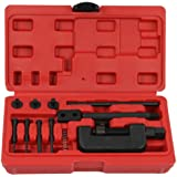 Motorcyle Chain Cutter / Rivet Tool - Chain Breaker and Riveting Set for Atv and Bike , 13 Piece Riveter Set with Carrying Case