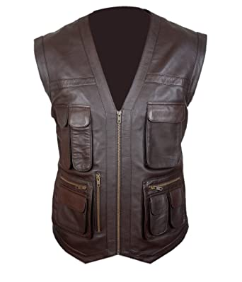 Flesh & Hide F&H Mens Jurassic World Chris Pratt Owen Grady Vest ...