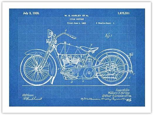 Amazon.com: Harley Davidson 1928 motocicleta Cartel ...