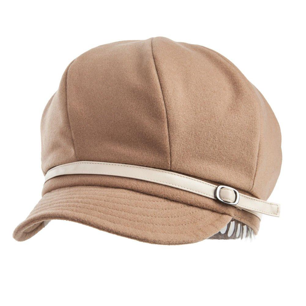 Siggi Womans Winter Autumn Newsboy Cabbie Cap Ladies Cloche Beret Hat Camel