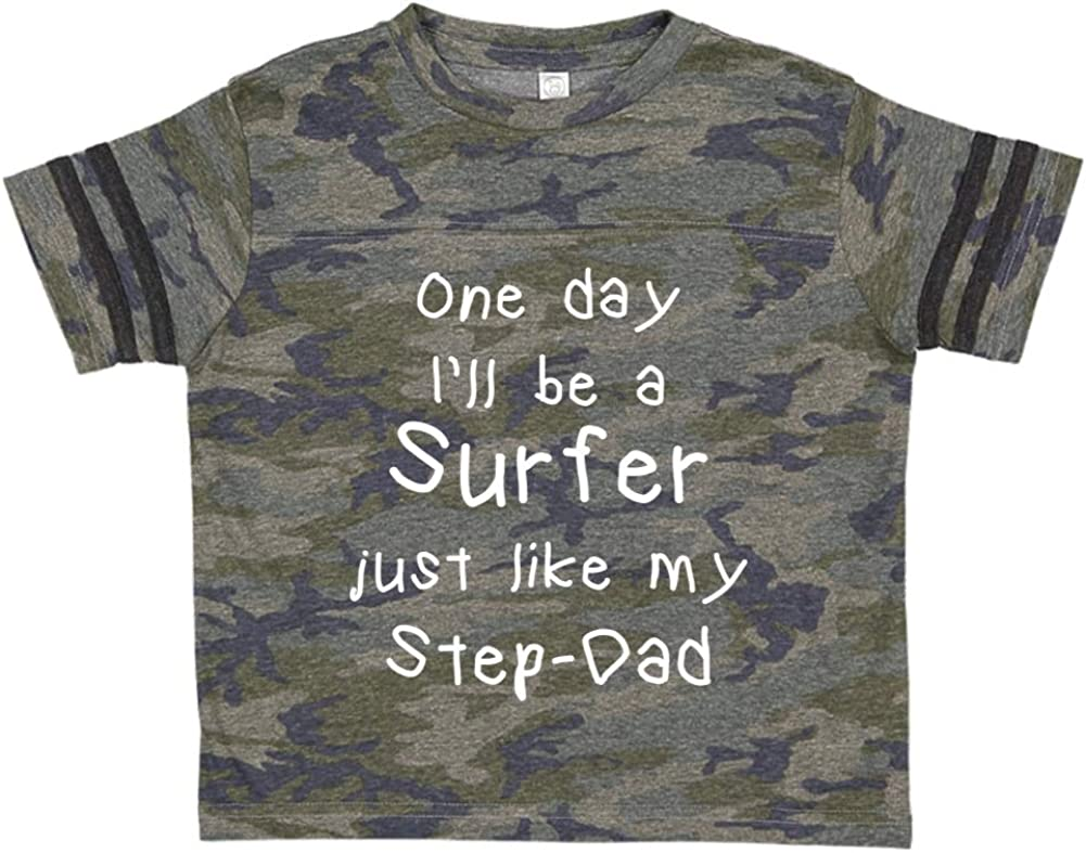 Toddler//Kids Sporty T-Shirt One Day Ill Be A Surfer Just Like My Step-Dad