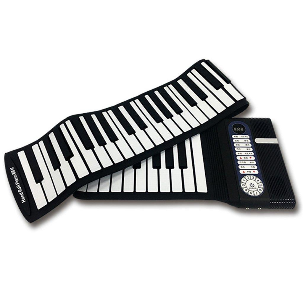 Hand Roll Piano 61 Tastatur Dicker Version Version Dicker Tragbare Anfänger Falten Früherziehung (Farbe   schwarz) 0fc008