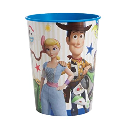 Unique Disney Toy Story 4 Plastic Party Stadium Cup 16 Oz., 1 Ct.: Toys & Games