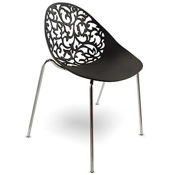 MOJO Kunststoff Stuhl Lounge Retro Stühle Vintage S06: Amazon.de ...