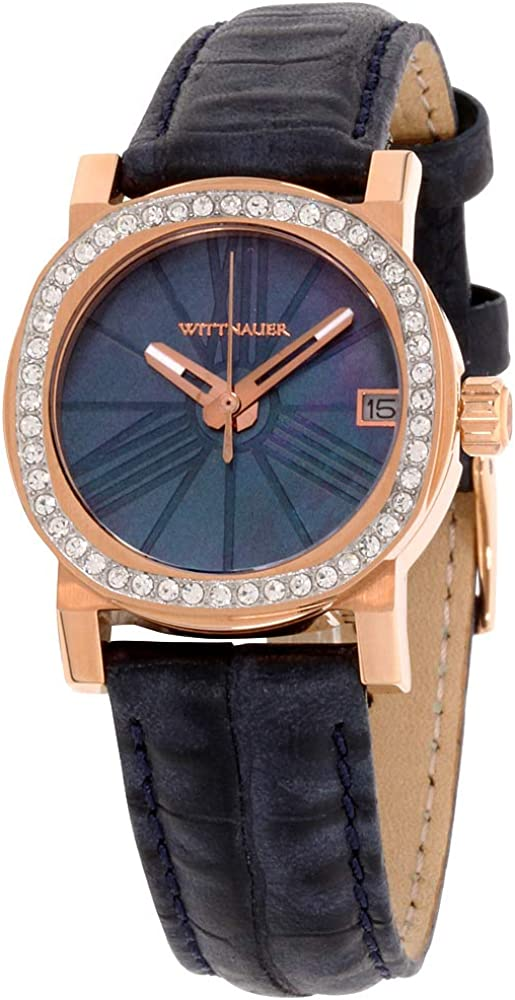 Wittnauer Blue Leather Strap Crystal Watch WN2000