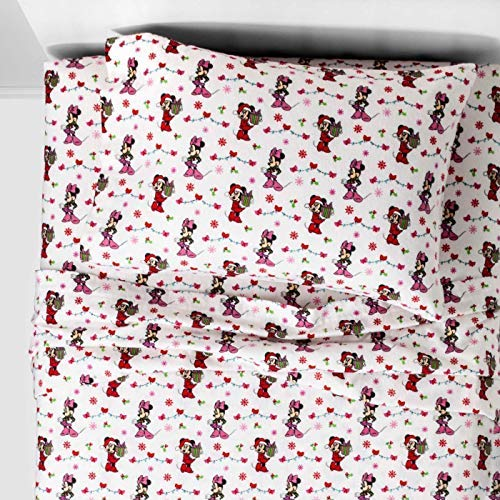 Mickey Mouse & Minnie Mouse Friends Twin Flannel Sheets