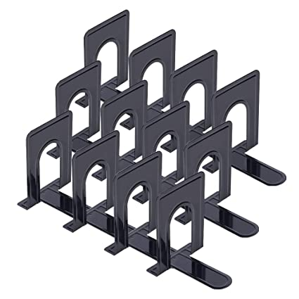 Amazon Black Bookend Supports Metal Nonskid Heavy Duty