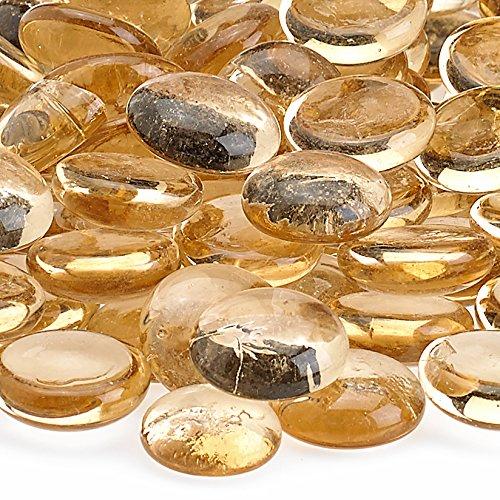 [해외]미국 Fireglass 화재 구슬 벽난로 유리 및 화재 구 덩이 유리, 10 파운드, 살구/American Fireglass Fire Beads Fireplace Glass and Fire Pit Glass, 10-Pound, Apricot