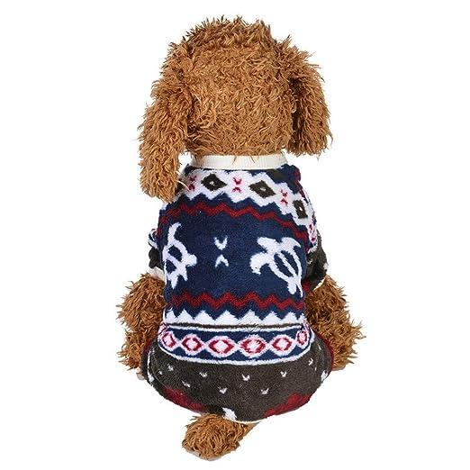zolimx® Ropa para Mascotas,Invierno Cálido Cuello Redondo Arco-Nudo Sweashirts Abrigos y Chaquetas para Mascotas Perros: Amazon.es: Ropa y accesorios