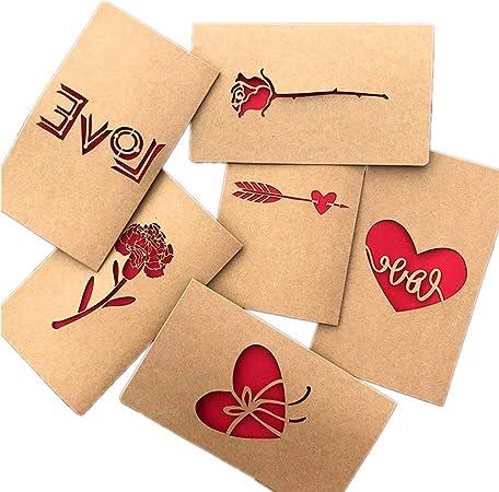 Compleanno Inviti Lettera Natale Biglietto di Auguri,Fatti a Mano Retr/ò Carta Kraft,Fiori Secchi Decorato Cartolina Retro Carta Kraft Vuote Fatti a Mano Fiori per Auguri di Matrimonio