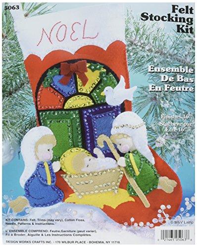 Nativity Stocking Felt Applique Kit - 16