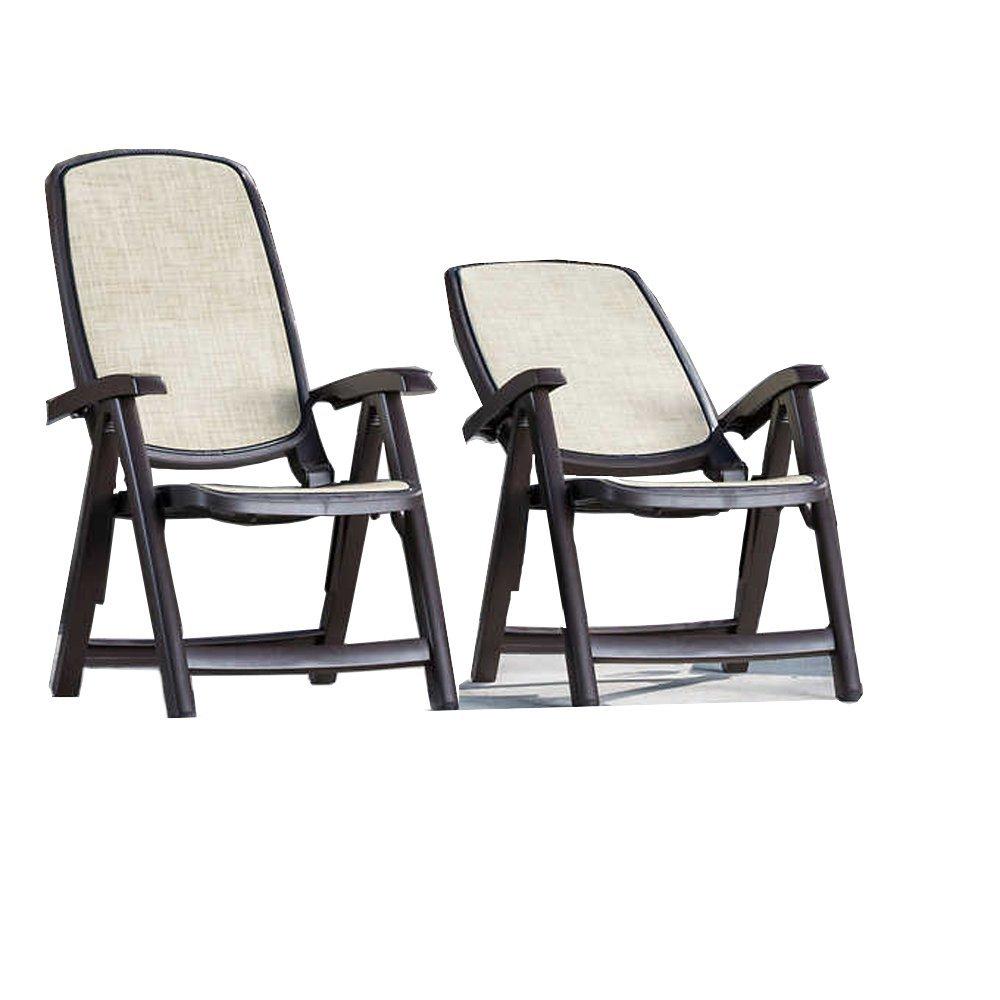 Amazon.com : NARDI Two Pieces, 5-position Delta Reclining High Back Chair, Brown : Garden & Outdoor
