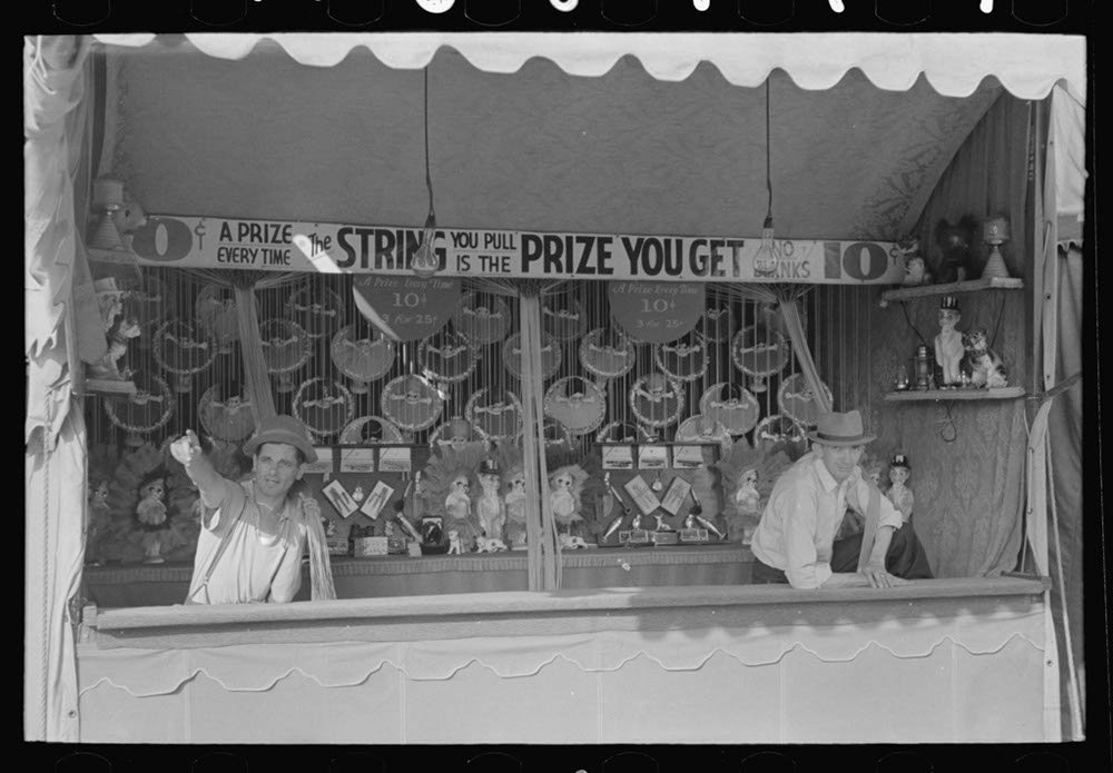 Historic Photos Women playing bingo, a very popular game at state fair, Donaldsonville, Louisiana by Historic Photos