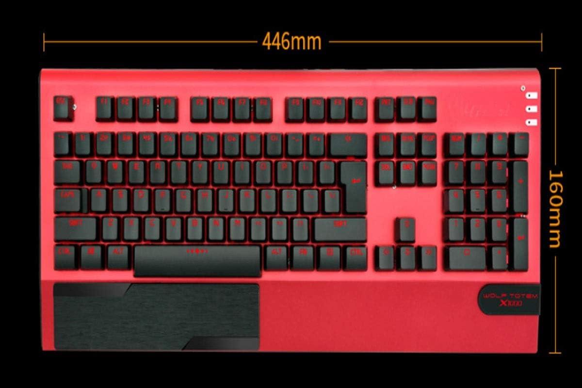 Yougou01 Keyboard Notebook Desktop Universal Style Cable Color : Black Mixed Light Exquisite Mechanical Esport Computer Keyboard Black Orange Light, 44.6163.5cm