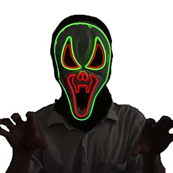 Amazon.com: Scary Led Mask Purge Halloween Light Up Costumes Glow ...