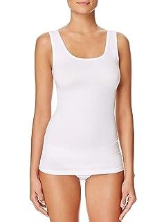 H HIAMIGOS Camiseta de Tirantes de Algodón para Mujer con Sujetador Incorporado, Pack de 1