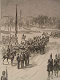 Royal Review Egypt Troops Whitehall London 1882