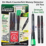Dri Mark Smart Money Counterfeit Detector Pen with Reusable UV LED Light (DRI351UVB)