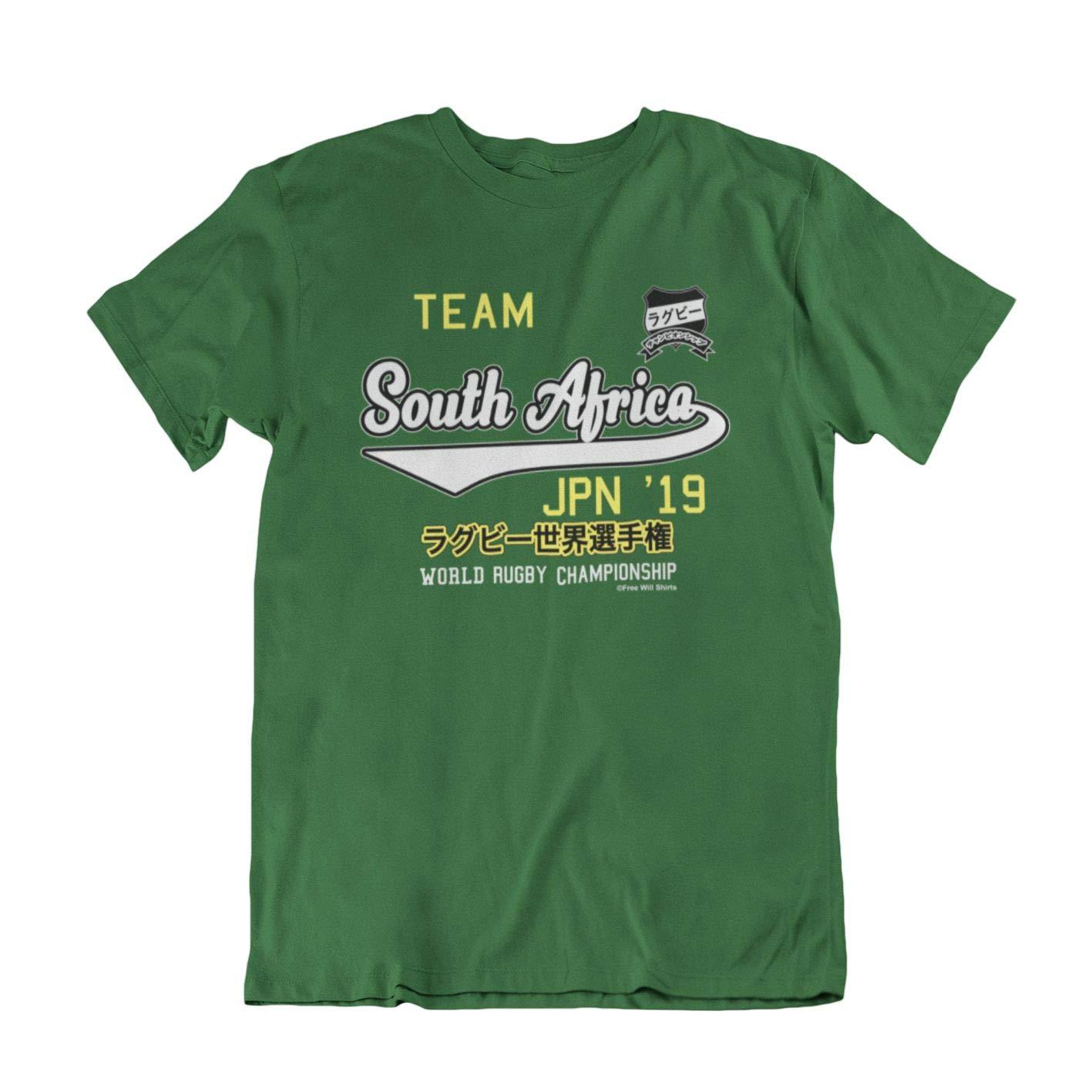 FreeWillShirts Kids Boys Girls World Rugby Championship Japan 2019 T-Shirt Team South Africa