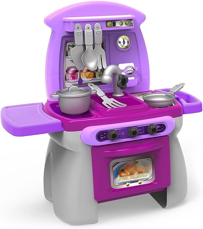 Chicos - Mi Primera Cocina Cook'Home, Cocinita Infantil con 17 Accesorios, a Partir de 18 meses ,...